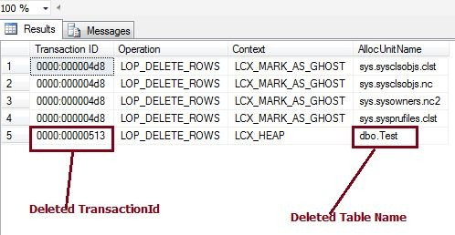 deleted transactions